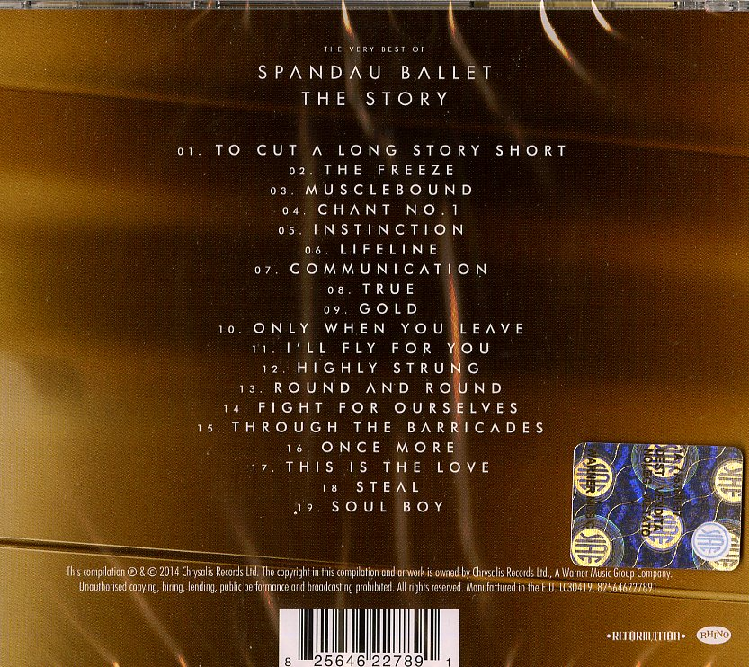 SPANDAU BALLET ''THE STORY'' T