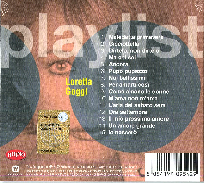 PLAYLIST: LORETTA GOGGI