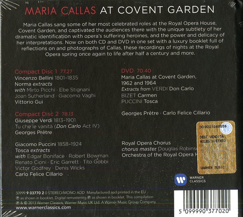 MARIA CALLAS AT COVENT GARDEN 1962-